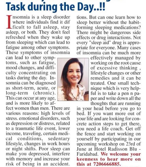 POOR SLEEP LEAD TO SYMPTOMS OF EMOTIONAL DISRUPTIONS AND DIFFICULTY CONCENTRATING ON TASK DURING THE DAY..!!