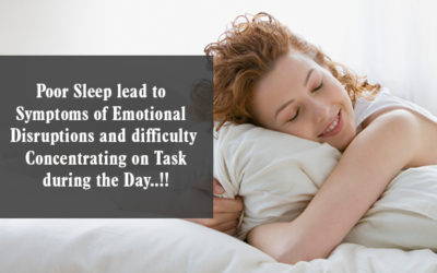 Poor Sleep Lead To Symptoms Of Emotional Disruptions And Difficulty Concentrating On Task During The Day. 400x250, Peyush Bhatia